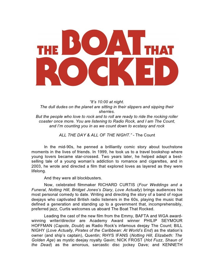 The boat that rocked production notes