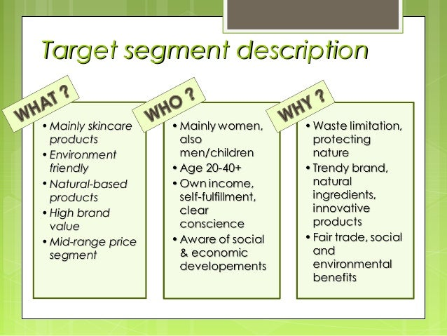 market segmentation the body shop malaysia More eco-friendly corporate sites cause marketing background information target market psychographics geographics built on the idea of natural the body shop.