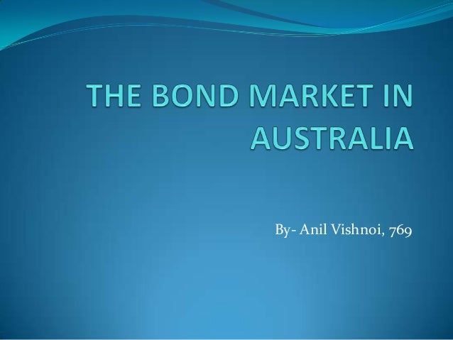 The bond market in  australia