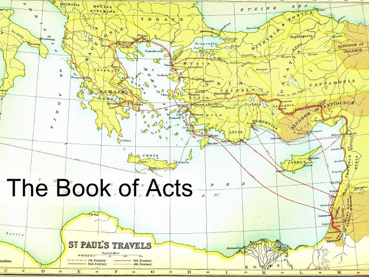 The Book Of Acts   Outlined