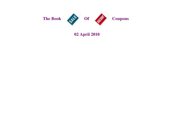 The Book Of Coupons - April Edition