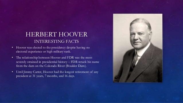 the life and presidency of herbert hoover