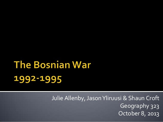 Julie Allenby, Jason Yliruusi & Shaun Croft Geography 323 October 8, 2013
