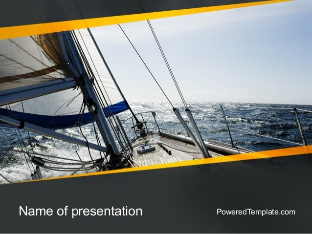 The Bow of a Boat PowerPoint Template by PoweredTemplate.com