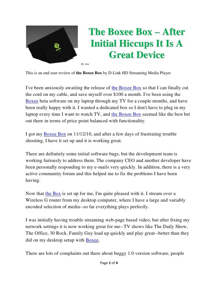 The Boxee Box – After                                   Initial Hiccups It Is A                                        Gre...