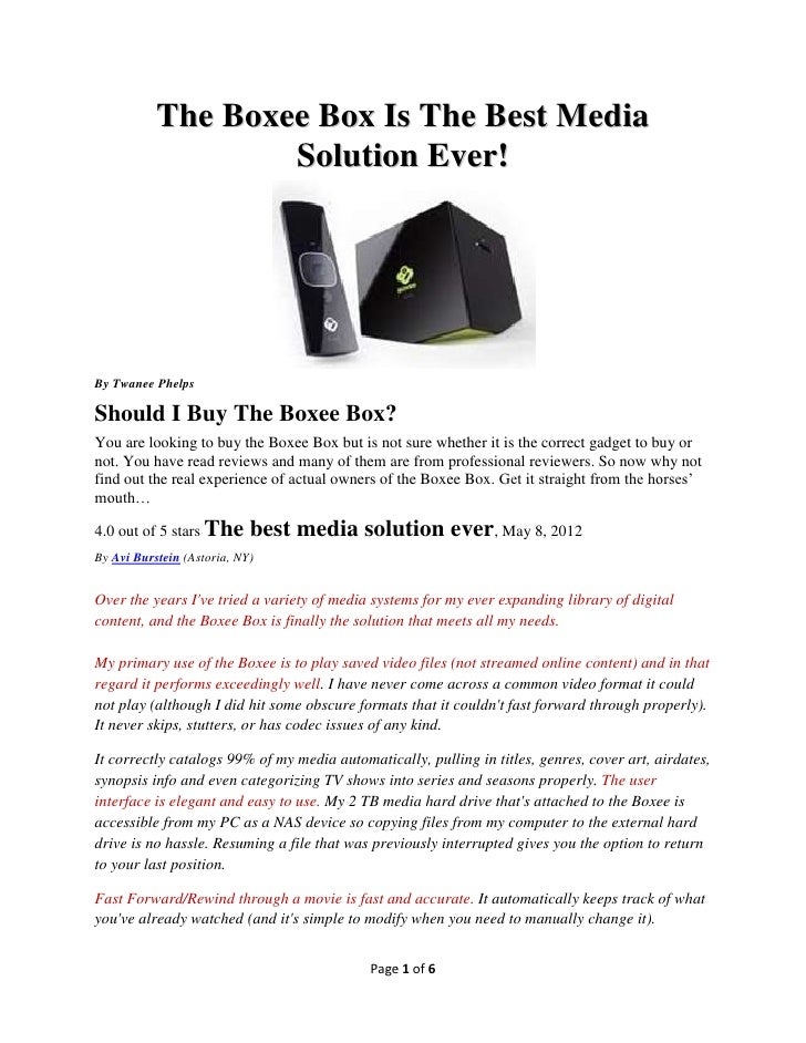 The Boxee Box Is The Best Media Streaming Solution Ever!