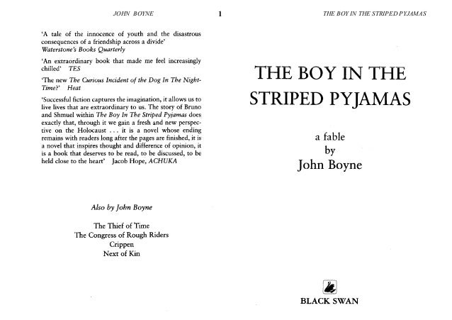 the boy in the striped pyjamas essay questions Hey guys, i have an exam/essay on the movie, the boy in striped pyjamas - what is the best way to study this i currently am looking at some quotes from the movie and reading over, it&#39s getting late.