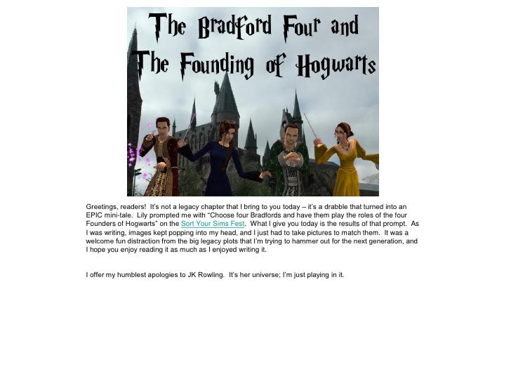 The Bradford Four and the Founding of Hogwarts