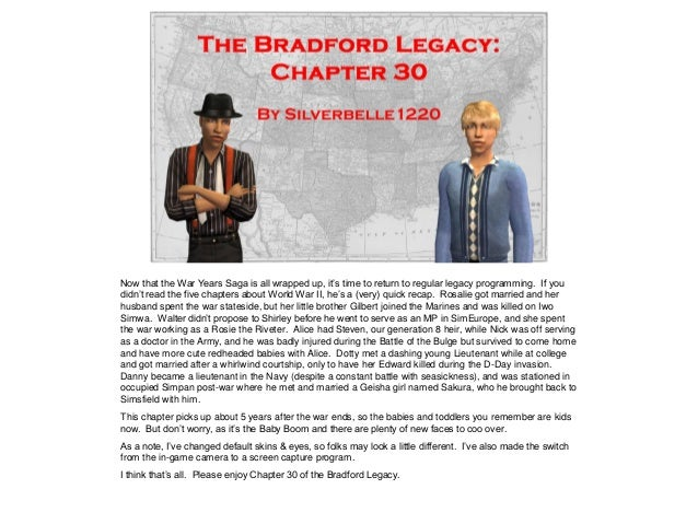 The Bradford Legacy - Chapter 30