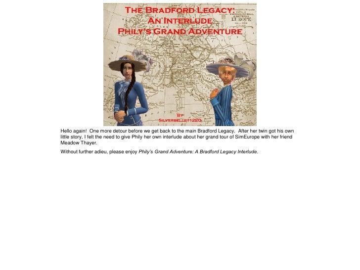The Bradford Legacy Iinterlude 2