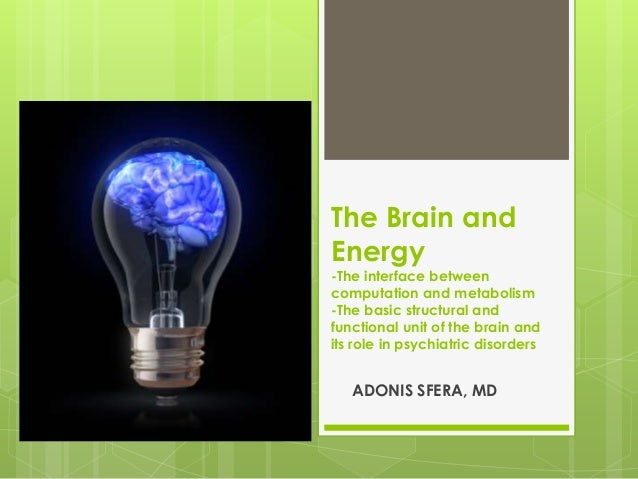 The brain and energy