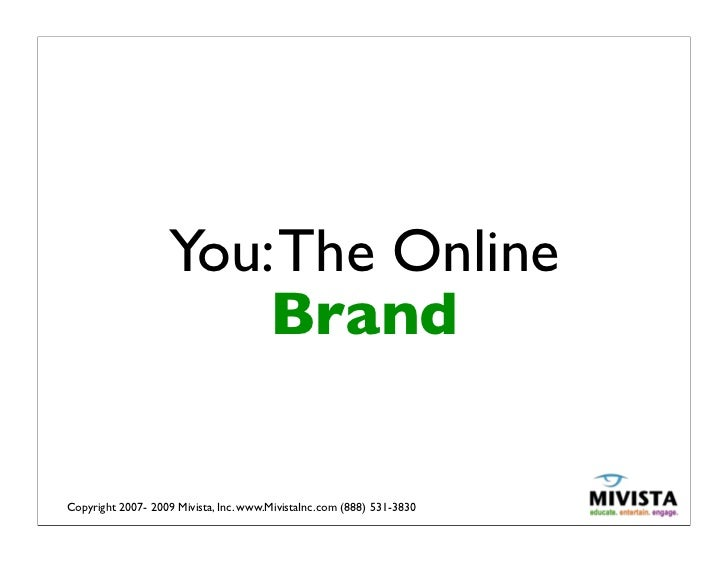 """""""You The Online Brand"""" - Social Media & Personal Branding Workshop by Michelle Villalobos"""