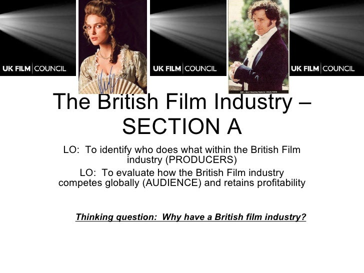 The British Film Industry – SECTION A LO:  To identify who does what within the British Film industry (PRODUCERS) LO:  To ...