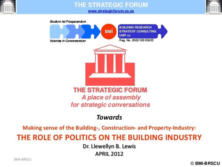 THE STRATEGIC FORUM                                         www.strategicforum.co.za              Studium Ad Prosperandum ...