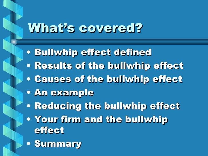 the bullwhip effect in barillas case