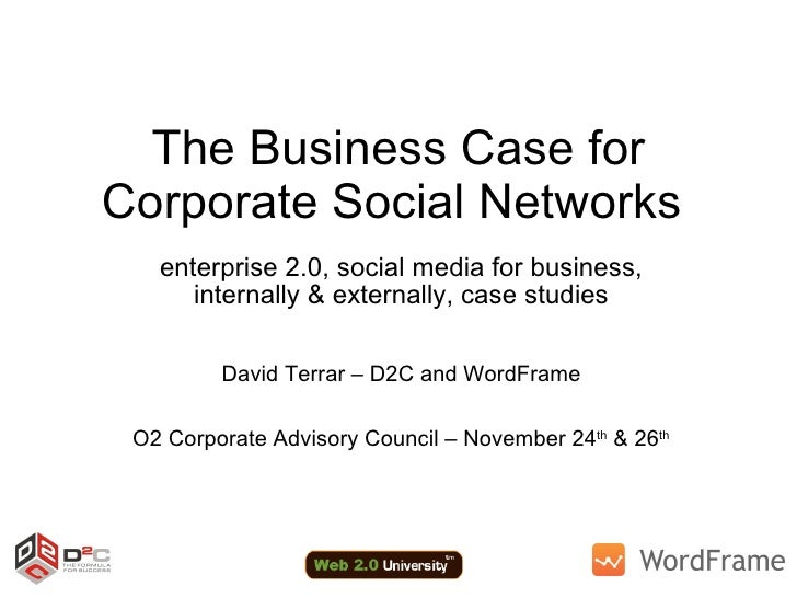 The Business Case For Corporate Social Networks   For O2