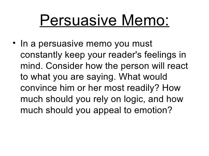 memo assignment