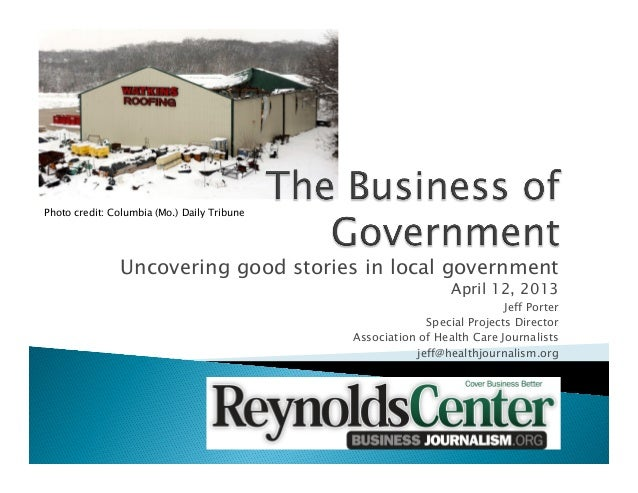 The Business of Government by Jeff Porter