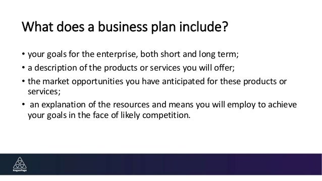 What should a business plan contain