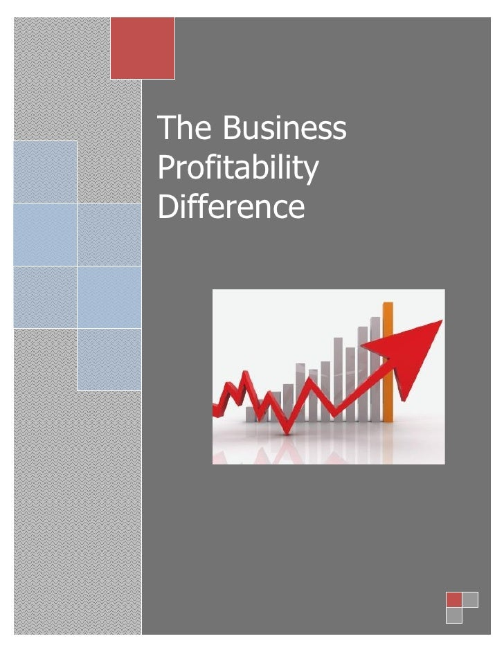 The BusinessProfitabilityDifference