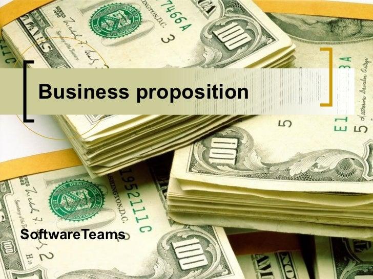 Business proposition SoftwareTeams