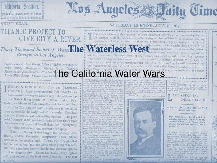NCSSM 2011 Summer Symposium, The Waterless West: The California Water Wars