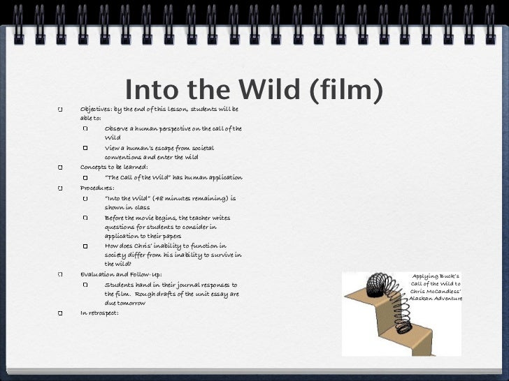 into the wild 7 essay Into the wild essay questions - allow us to take care of your bachelor thesis essays & dissertations written by high class writers put aside your fears, place your order here and get your professional project in a few days.
