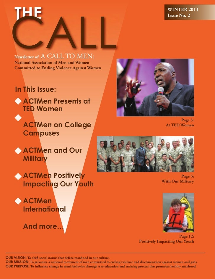 Winter 2011 - The Call: Newsletter of A CALL TO MEN