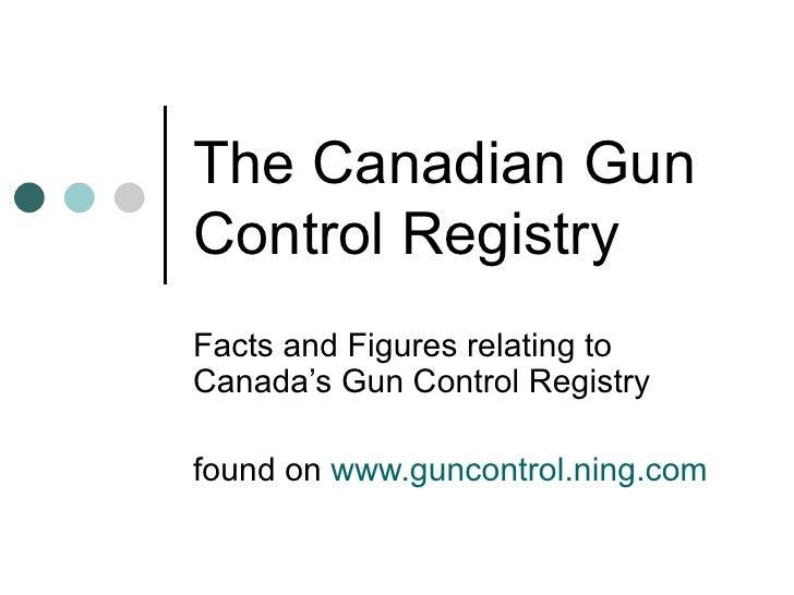 The Canadian Gun Control Registry