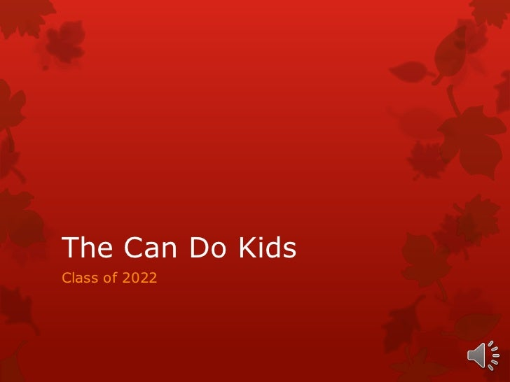 The can do kids i am 2012