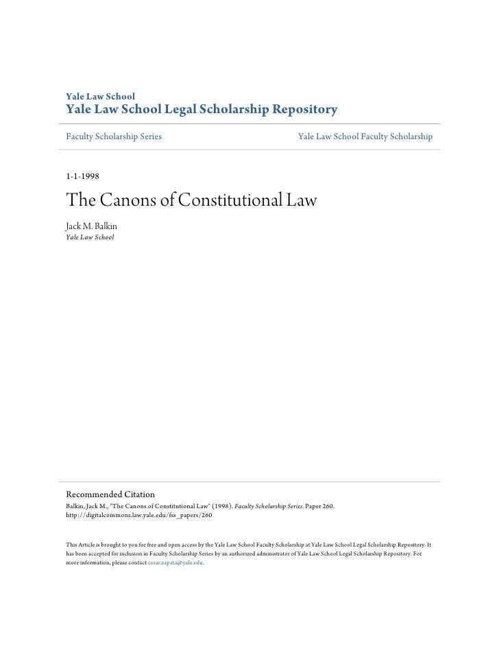 The canons of constitutional law
