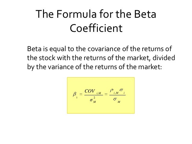 How to Calculate Beta