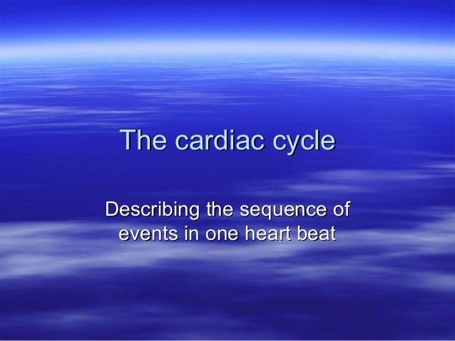 The cardiac cycle colstons