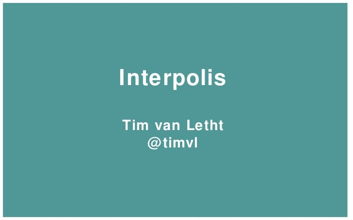 Interpolis Tim van Letht @timvl