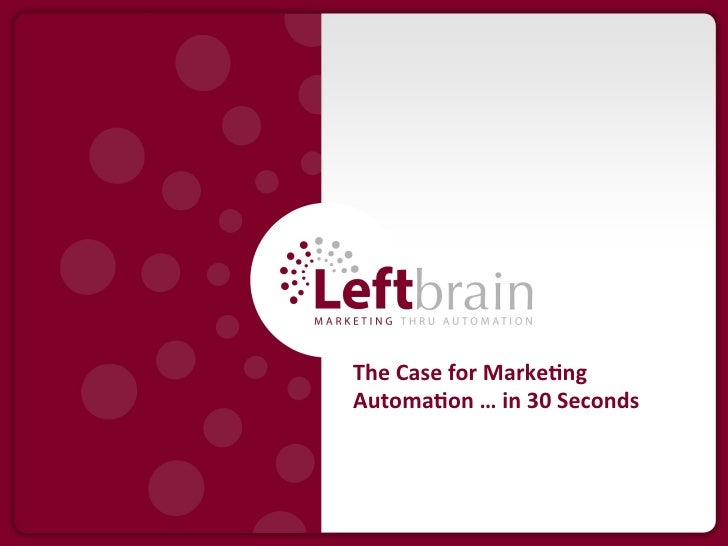 The Case for Marketing Automation in 30 Seconds
