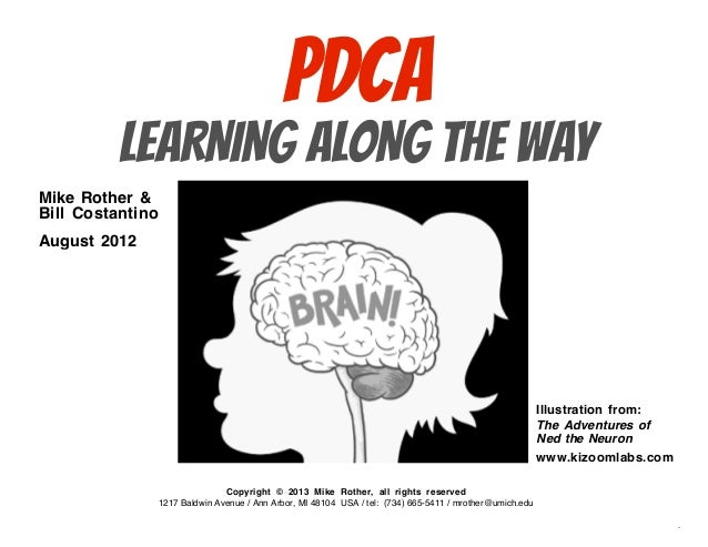 PDCA           LEARNING ALONG THE WAYMike Rother &Bill CostantinoAugust 2012                                              ...