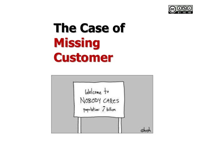 The case of missing customer - supplementary for module one pp ts