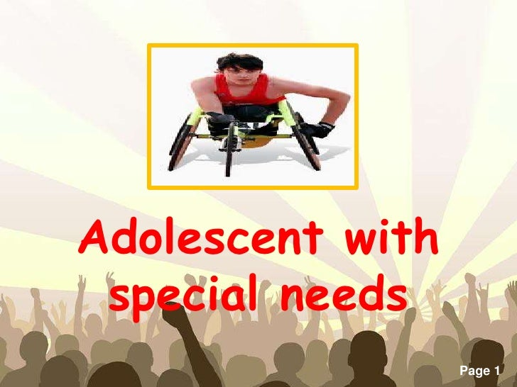 Adolescent with special needs    Free Powerpoint Templates                                Page 1