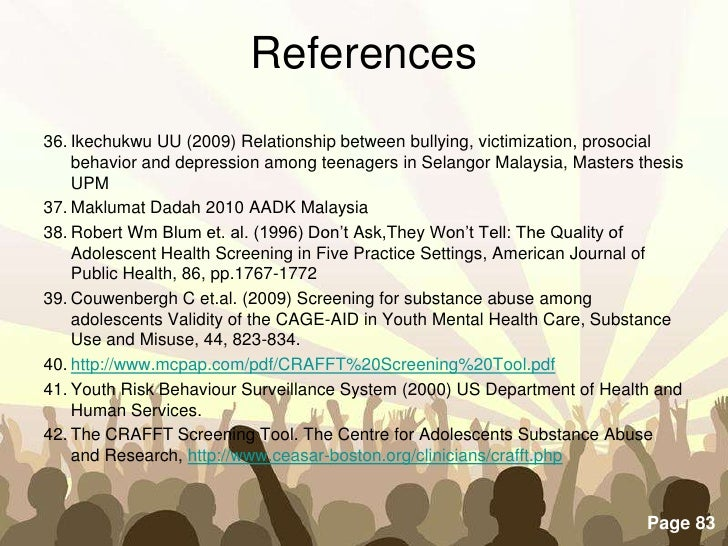 adolescent depression thesis Free adolescent depression papers, essays, and research papers.