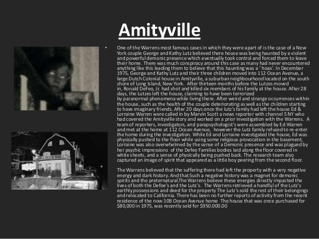 The Gallery For Gt Ed And Lorraine Warren Amityville Pictures