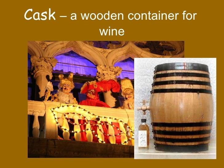 The Cask of Amontillado background info help!?
