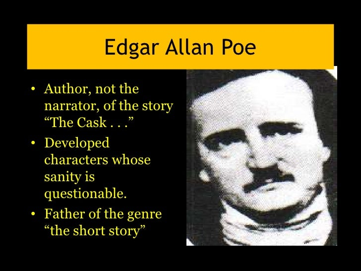 a report on edgar allan poes short story the cask of amontillado Free summary and analysis of the events in edgar allan poe's the cask of amontillado that won't by edgar allan poe home / the story is told in.