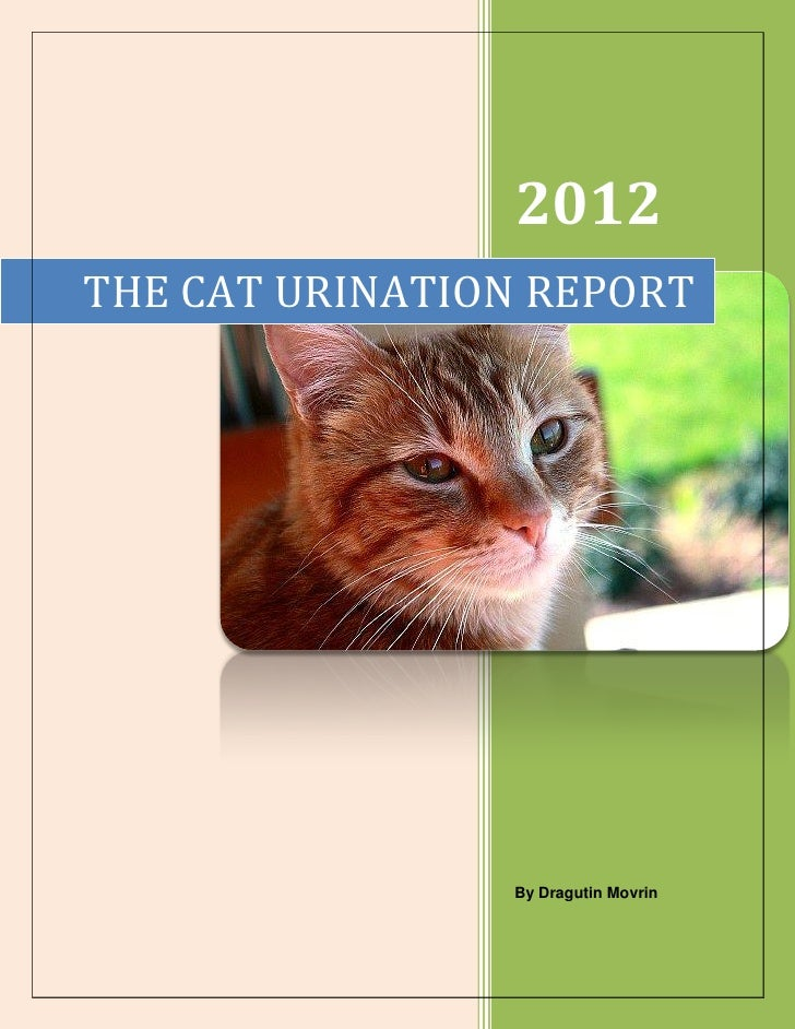 2012THE CAT URINATION REPORT                By Dragutin Movrin
