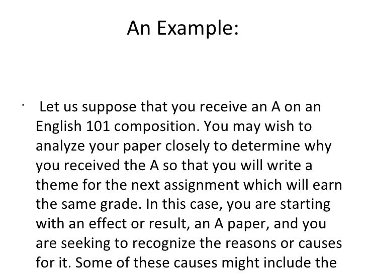 Causal analysis essay examples