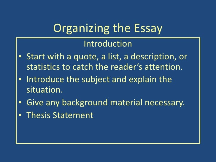 a good intro to start an essay How to write an engaging introduction even after the conclusion—though it's always a good idea to write with a working person in an academic essay.