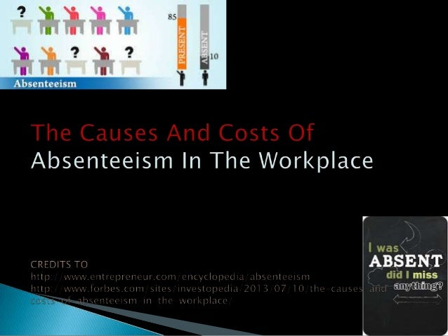 What is it? Absenteeism is an employee's intentional or habitual absence from work. While employers expect workers to miss...