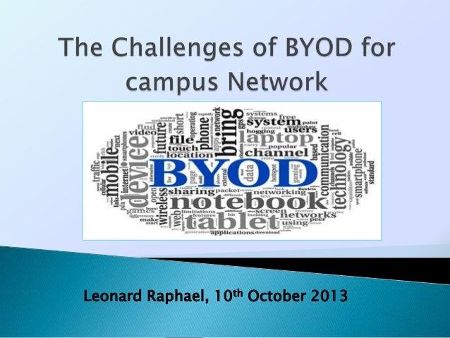 Leonard Raphael, 10th October 2013