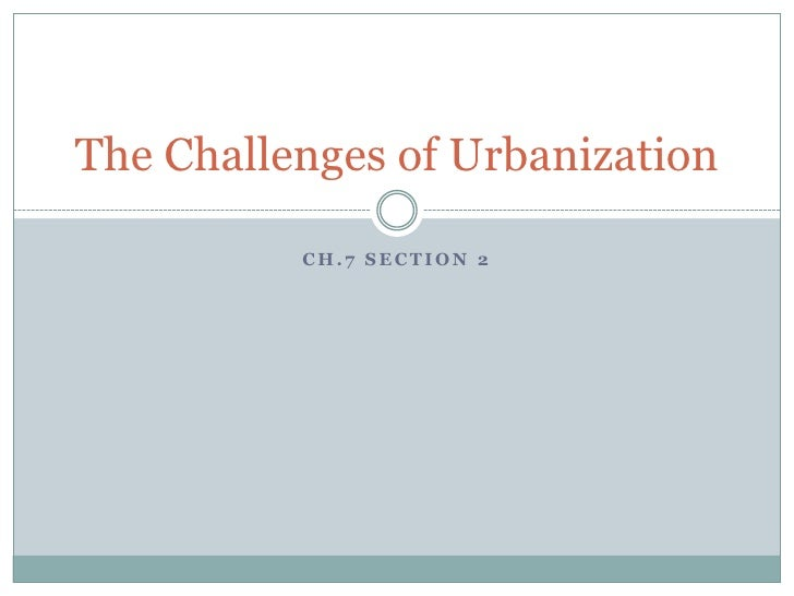 The challenges of urbanization