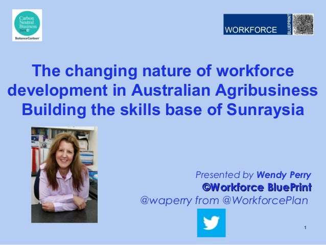 Presented by Wendy Perry ©Workforce BluePrint©Workforce BluePrint @waperry from @WorkforcePlan The changing nature of work...