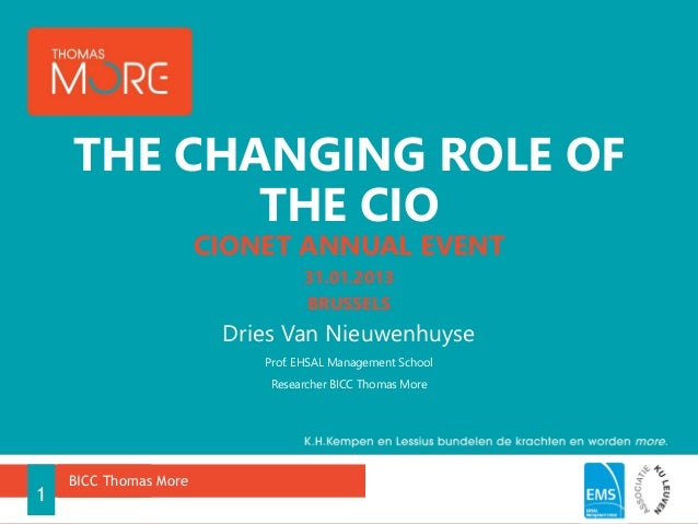 THE CHANGING ROLE OF           THE CIO                       CIONET ANNUAL EVENT                                 31.01.201...
